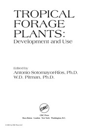 Cover of: Tropical forage plants |