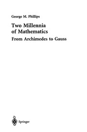 Cover of: Two Millennia of Mathematics | George M. Phillips