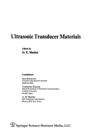 Ultrasonic Transducer Materials