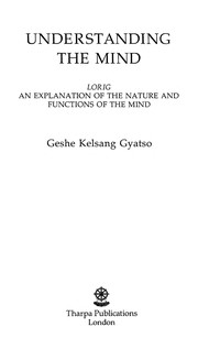 Cover of: Understanding the mind | Kelsang Gyatso