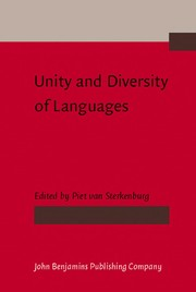Cover of: Unity and diversity of languages