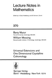 Cover of: Universal extensions and one dimensional crystalline cohomology | Barry Mazur