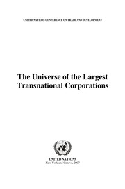 Cover of: The universe of the largest transnational corporations |