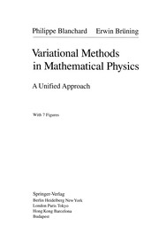 Cover of: Variational Methods in Mathematical Physics | Philippe Blanchard