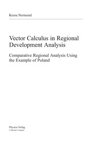 Cover of: Vector calculus in regional development analysis | Kesra Nermend