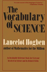 Cover of: The vocabulary of science