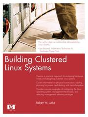 Cover of: Building Clustered Linux Systems