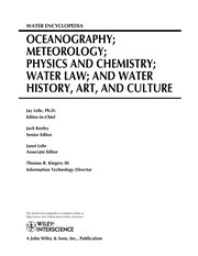 Cover of: Water encyclopedia |