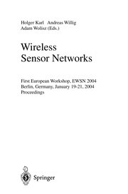 Cover of: Wireless sensor networks | EWSN 2004 (1st 2004 Berlin, Germany)