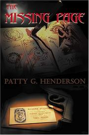 Cover of: The Missing Page | Patty G. Henderson