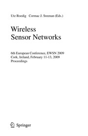 Cover of: Wireless Sensor Networks | Hutchison, David