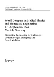 Cover of: World Congress on Medical Physics and Biomedical Engineering, September 7 - 12, 2009, Munich, Germany | Olaf Dössel