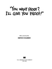 "Cover of: ""You Want Proof? I'll Give You Proof!"""