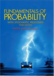Cover of: Fundamentals of probability with stochastic processes