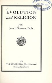Cover of: Evolution and religion | John Lunsford Robinson