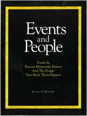 Events and People