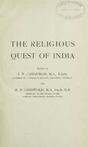 Cover of: The religion of the Rigveda | Hervey De Witt Griswold