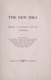 Cover of: The new idea | Charles Richard Tuttle