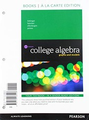 Cover of: College Algebra: Graphs and Models, Books a la Carte Edition (6th Edition)