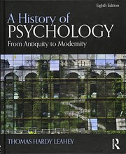 Cover of: A History of Psychology: From Antiquity to Modernity