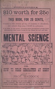 Cover of: Mental science | Allen Haddock