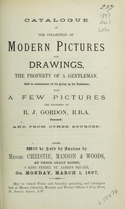 Cover of: Catalogue of the collection of modern pictures and drawings | Christie, Manson & Woods