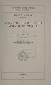 Cover of: Games and other devices for improving pupils