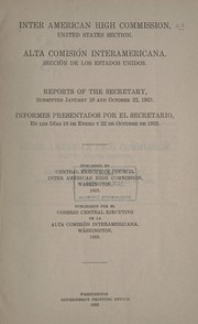 Cover of: Program of activities of the Inter American high commission October 22, 1923. | Inter-American High Commission