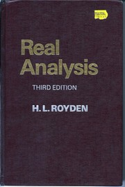 Cover of: Real Analysis