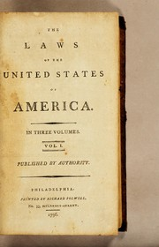 Cover of: The laws of the United States of America