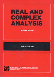 Cover of: Real and Complex Analysis | W. Rudin