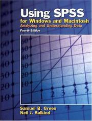 Cover of: Using SPSS for Windows and Macintosh