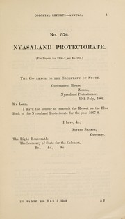 Cover of: Nyasaland | Great Britain. Colonial Office