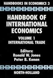 Cover of: Handbook of International Economics, Volume 1: International Trade