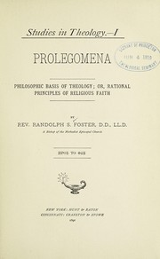 Cover of: Studies in theology | Randolph S. Foster
