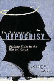 Cover of: In defense of hypocrisy