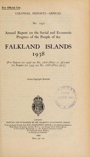 Cover of: Annual report on the social and economic progress of the people of the Falkland Islands |