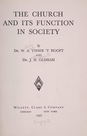Cover of: The church and its function in society