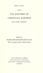 Cover of: The mystery of Christian worship