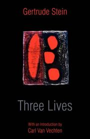 Cover of: Three Lives | Gertrude Stein