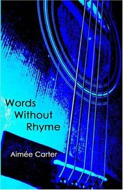 Cover of: Words Without Rhyme | Aimee Carter