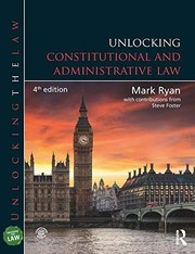 Cover of: Unlocking Constitutional and Administrative Law (Unlocking the Law)