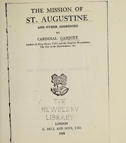 Cover of: The Mission of St. Augustine, etc | Francis Aidan Gasquet
