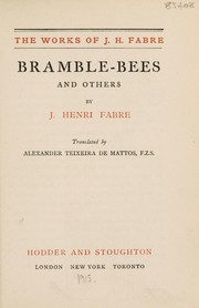 Cover of: Bramble-bees, and others | Jean-Henri Fabre