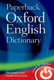 Cover of: Paperback Oxford English Dictionary | unknown
