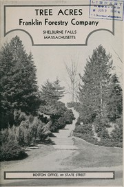 Cover of: Tree acres | Franklin Forestry Company