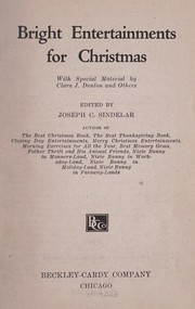 Cover of: Bright entertainments for Christmas | Joseph Charles Sindelar
