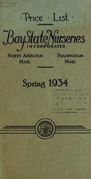 Cover of: Price list, spring 1934