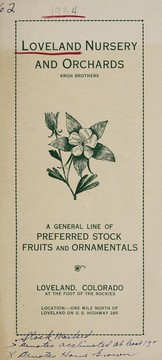 A general line of preferred stock fruits and ornamentals