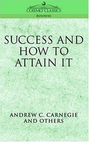 Cover of: Success and How to Attain It